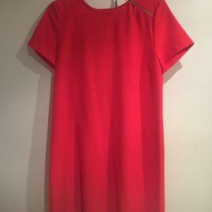 Zara Short-Sleeved Red Dress